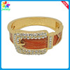 Fashion Enamel Drip Pretty Belt Design Women's 14K Gold Filled Bangle Bracelet