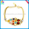 Nice Stunning! Bulk Fashion Buttons Gold jewelry China Bead Charm Bracelets & Bangles
