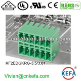 PCB plug terminal block 3.5mm 3.81mm pitch 2 row female terminal block with lock of wire connector UL CE VDE terminal connecto