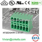 PCB plug terminal block 3.5mm 3.81mm pitch 2 row female terminal block of wire connector UL CE VDE terminal connecto