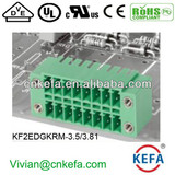 PCB plug terminal block 3.5mm 3.81mm pitch 2 row female terminal block with nut of wire connector UL CE VDE terminal connecto
