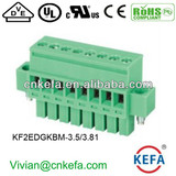 Vertical PCB plug terminal block ,3.5mm pitch, female terminal block, plug connector with nut wire connector