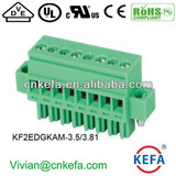Vertical PCB plug terminal block 3.5mm 3.81 pitch female terminal block plug connector with nut wire connector