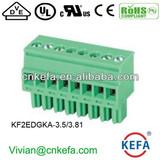 Vertical PCB plug terminal block 3.5mm 3.81 pitch female terminal block plug connector wire connector