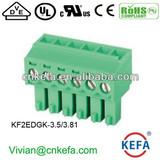 Right angle PCB plug terminal block 3.5mm 3.81 pitch female terminal block plug connector wire connector