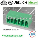 Right angle pin header Plug Terminal Block connector with UL CE ROHS for wire to board connect 300V 10A Conncetor