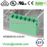 180 Degree pin header Plug Terminal Block connector with UL CE ROHS for wire to board connect 300V 10A Connector with lock slot
