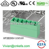 180 Degree pin header Plug Terminal Block connector with UL CE ROHS for wire to board connect 300V 10A Connector male part conn