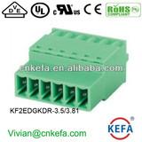 press terminal block plug terminal block 3.5mm pitch 3.81mm pitch female terminal block for wire to wire connector