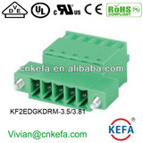 press terminal block plug terminal block 3.5mm pitch 3.81mm pitch female terminal block for wire to wire connector fix screw