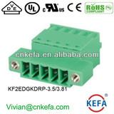 press terminal block plug terminal block 3.5mm pitch 3.81mm pitch female terminal block for wire to wire connector with nut