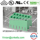 PCB plug terminal block 3.5mm 3.81mm pitch 2 row female terminal block of wire connector UL CE VDE terminal connector vertical