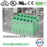 PCB plug terminal block 3.5mm 3.81mm pitch 2 row female terminal block of wire connector UL CE VDE terminal connector with lock