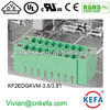 PCB plug terminal block 3.5mm 3.81mm pitch 2 row female terminal block of wire connector terminal connector with NUT