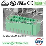 PCB plug terminal block 3.5mm 3.81mm pitch 2 row female terminal block of wire connector terminal connector with NUT