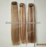 Wholesale 120/set mixed color Human Peruvian Hair Weft/HIgh Grade ombre color human Remy Hair Extension