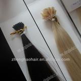 Tangle Free No Shedding U-tip Nail Pre-bonded Human Hair Extension/Keratin nail human hair extension/i-tip brazilian hair