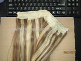2014 hotsale fish wire hair extension 100g, flip in hair extension, fish wire hair extension/