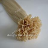 Top like flower nail tip hair,Remy Human Hair Extension/nail u tip human hair extensions