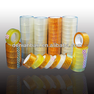 clear/yellowish/golden color stationery tape for school and office use