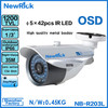 china manufacturer Newrick 1200TVL waterproof cctv camera cctv