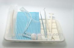 Lowest price Disposable Dental Kit 6 in 1 dental supply medical diagnostic test kits