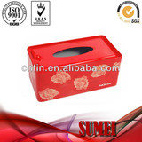 fashion tissue box Square tin box