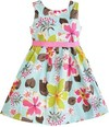 Manufacture wholesale 100% cotton flower pink girl dress