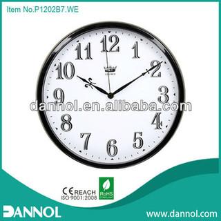 Classical Number 12 Inch Quartz Plastic Wall Promotion Clock