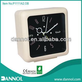 Home Decoration Modern Quartz Plastic Table Alarm Cube Clock