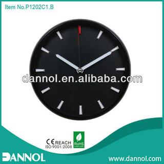 3D Number 12 Inch Quartz Wall Plastic Clock