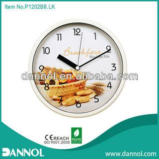 Bread 12 Inch Quartz Plastic Wall Different Types Of Clocks
