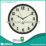 Home Decoration Modern 12 Inch Quartz Metal Clock Clock Wall