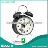 Home Decoration Retro Quartz Metal Table Twin Bell Alarm Instrument Clocks