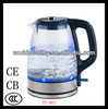 1.7L automatic glass electric tea kettle 1000w 220v with CE CB CCC