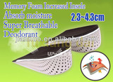 Increased memory half cushion insole