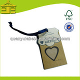 2014 Gilding hot stamping custom printed swing label paper jewelry price tagmetal labels and tags for swing tags