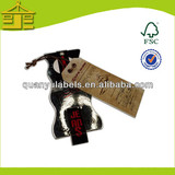 Custom jewelry price swing ticket paper printed hang tags in China