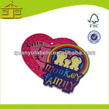 Design printed paper swing tag manufacturer for clothing ,bag, shoes