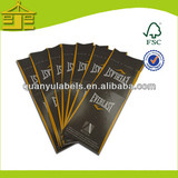 Color printing art paper die-cutting hang tags for clothing