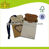 Cheap customized high quality custom new fashion paper hang tags