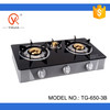 3 burner glass table gas stove