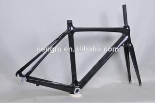 Hot Sale Dengfu Carbon Road Bike Frame 60cm Clear Coating Finished FM028