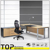 Maple Wood Veneer Finish Manager Office Desk Design