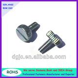 DIN653 Carbon Steel Slotted Knurled Head Thumb Screws