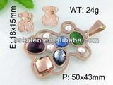 Stylish Fake Gold Jewelry Set Colored Stone Gold Jewelry Sets