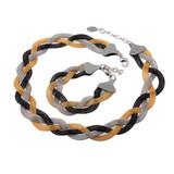 Small Order KS17687-K Colored Chain Big Fashion Jewelry Set