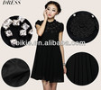 Summer Newest pregnant women dresses Fashion black chiffion dress