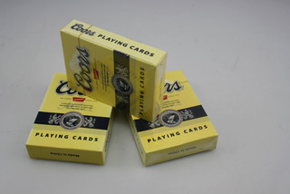 Two sides customized paper playing cards in plastic box