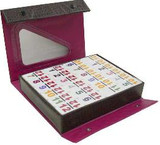 number embossed double 12 game set